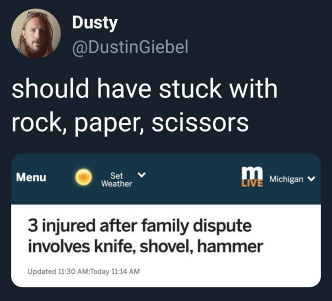 Ils auraient mieux fait d'en rester à caillou, papier, ciseaux...