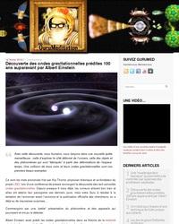 Découverte des ondes gravitationnelles prédites 100 ans auparavant par Albert Einstein