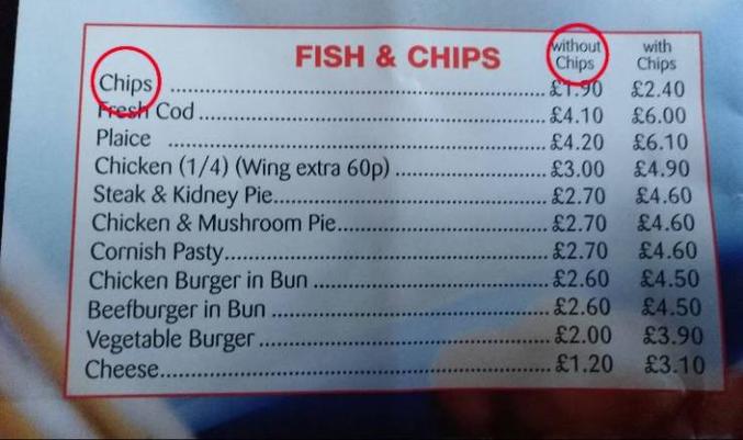 Tu veux tes frites avec ou sans frites ?