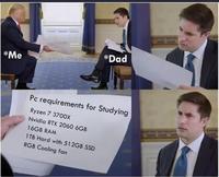 Demander un pc à son père pour faire les devoirs de l'école