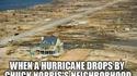 Kan un ouragan tombe dans le voisinage de la maison de Chuck