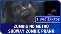 Caméra cachée avec des zombies dans le metro