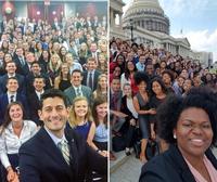 Trouve la différence parmi les stagiaires 2016 du Congrès américain, côté républicains et côté démocrates