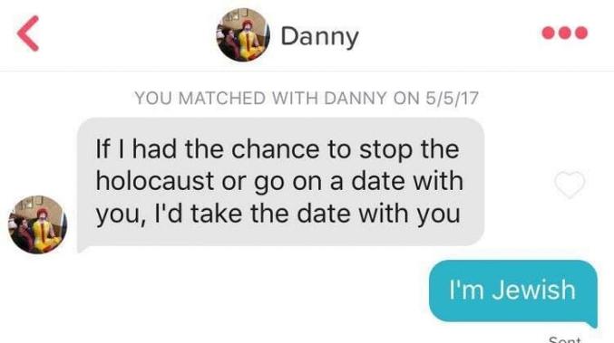 Si j'avais la chance d'arrêter l'Holocauste ou aller à un rendez-vous avec toi, je choisirais le rendez-vous avec toi.