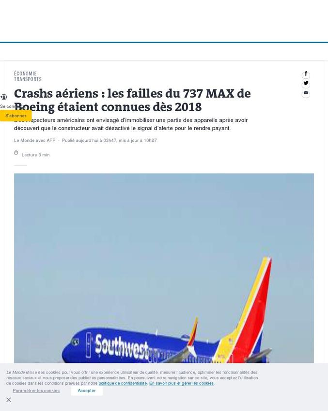 Merci Boeing !
