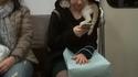 Chat dans le métro