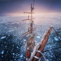 Bateau en Antarctique