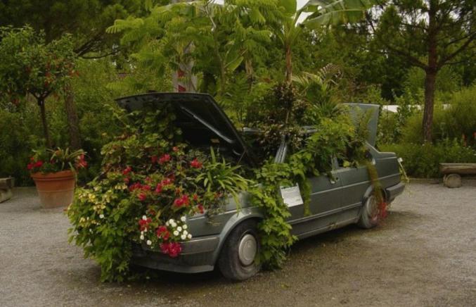 Voiture jardini re - Fleurs d ombre en jardiniere ...