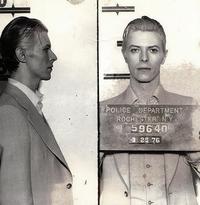 David Bowie pour une fiche de police en 1976