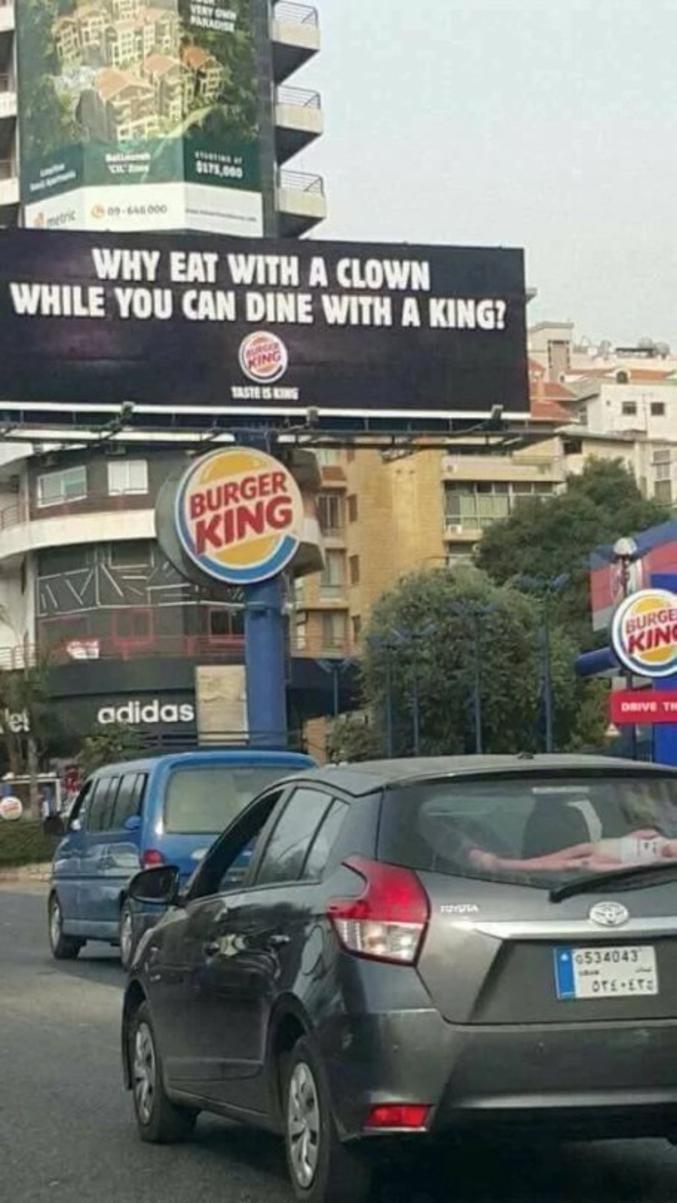 ...quand vous pouvez dîner avec un roi (burger king) ?