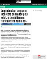 Un producteur de porno incarcéré en France pour «viol, proxénétisme et traite d'êtres humains»