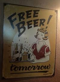 Bière gratuite........................ demain !