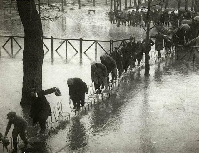 La dernière grande inondation de Paris.