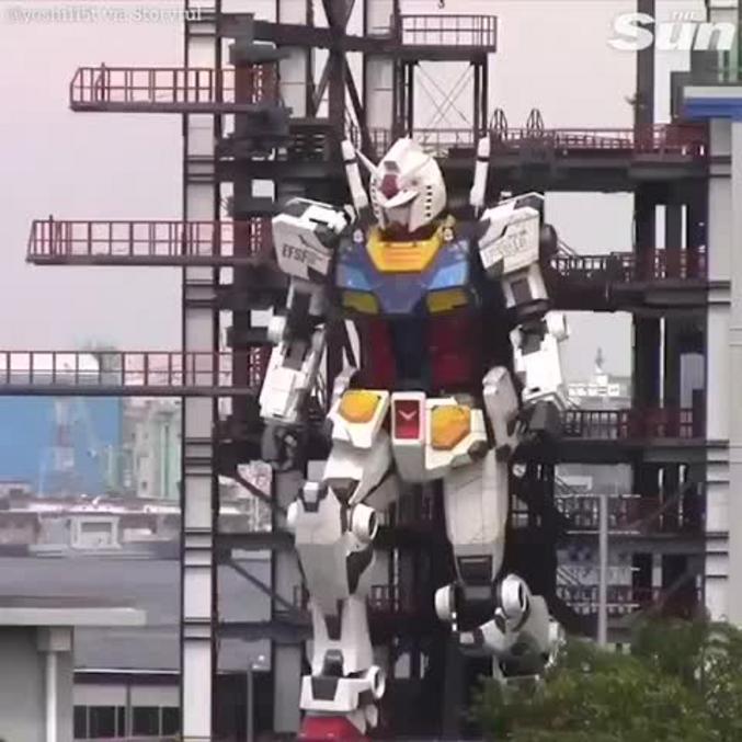 Le gundam au Japon a fait ses premiers pas