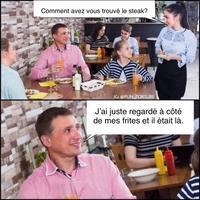 Pendant ce temps là au restaurant.