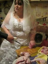 Pourvu que la mariée ne s'en prenne pas aux rognons...