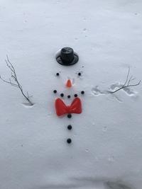 Bonhomme de neige à plat