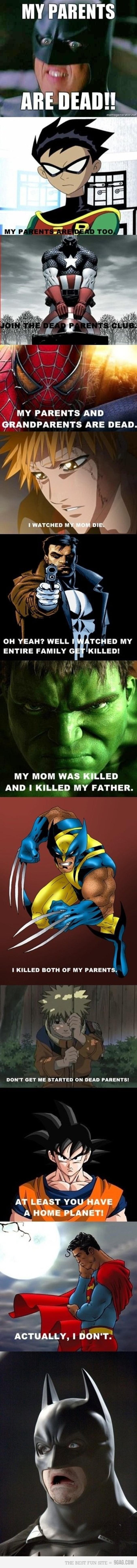 C'est toute une histoire pour les super-héros.