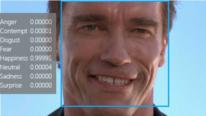 Plutôt réussi le sourire; Détection des émotions par Microsoft https://www.projectoxford.ai/demo/Emotion#detection