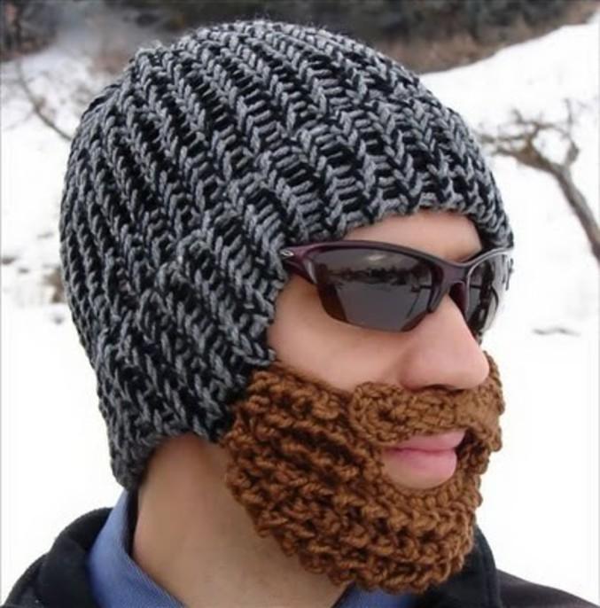 Pour protéger sa barbe du froid.