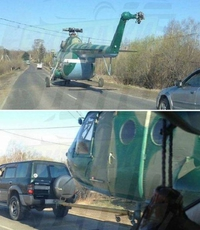 Dépasser un hélicoptère
