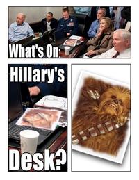 Sur le bureau d'Hilary