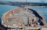 Construction du barrage marémoteur de La Rance 1963