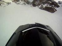 Montée en moto-neige