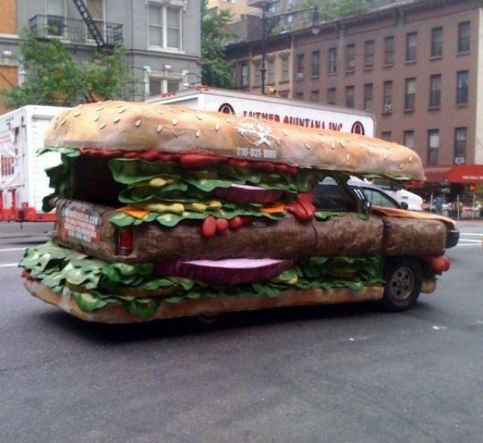Voiture sandwich - Image voiture drole ...