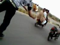 Faire de la moto en roller