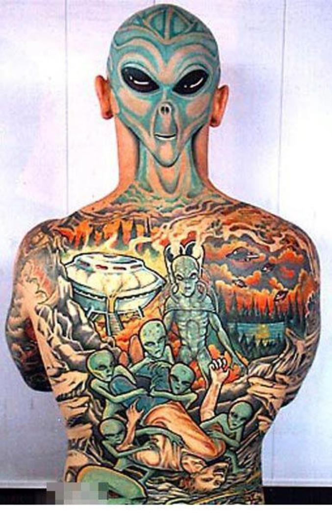 Un tatouage de science-fiction