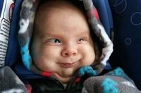 Un bébé heureux