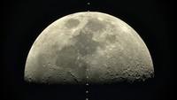 La Station Spatiale devant la Lune