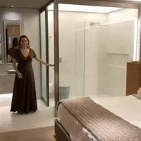 Cabinet de toilette avec verre polarisé, je suppose