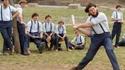 Amish jouant au baseball