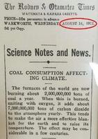 14 Août 1912 : Brûler du charbon peut _déjà !_ affecter le climat