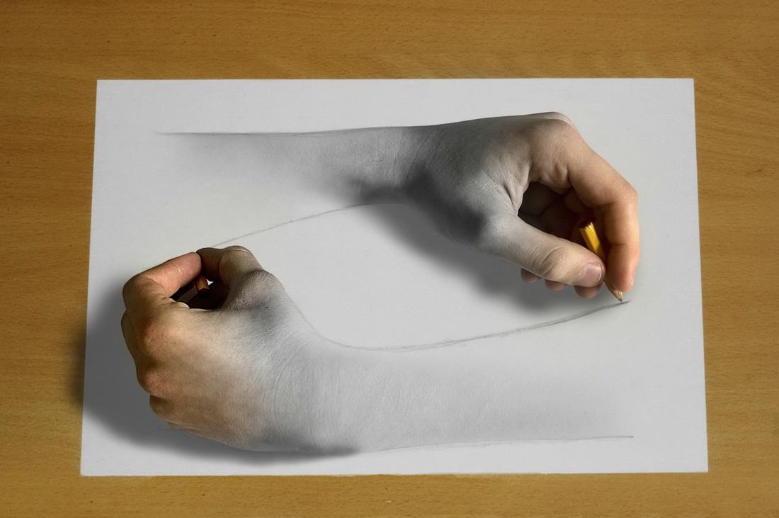 Un dessin de main qui dessine une main - Dessin de la main ...