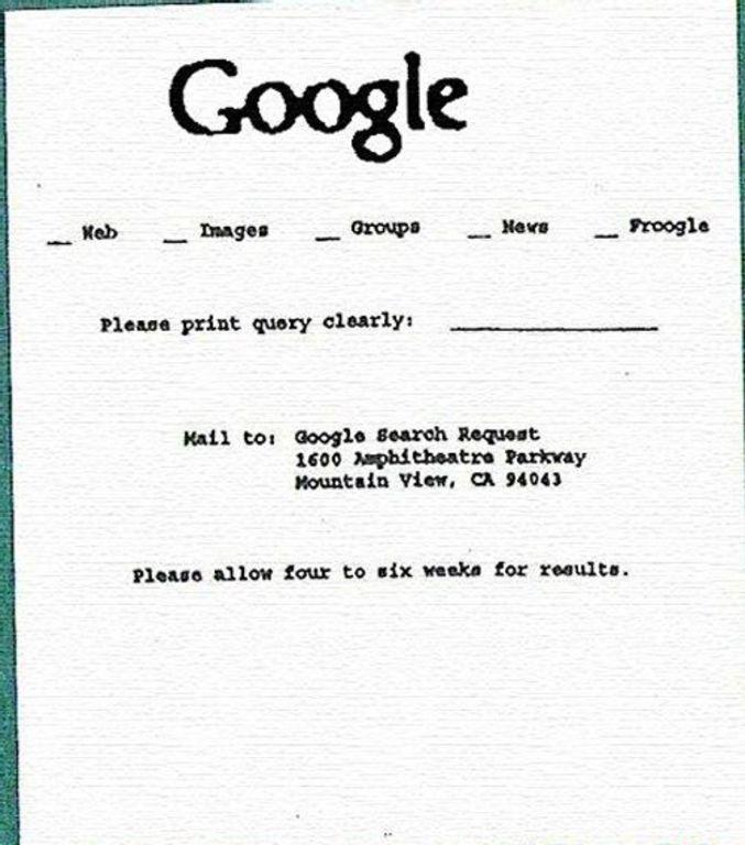 La recherche Google il y a 40 ans