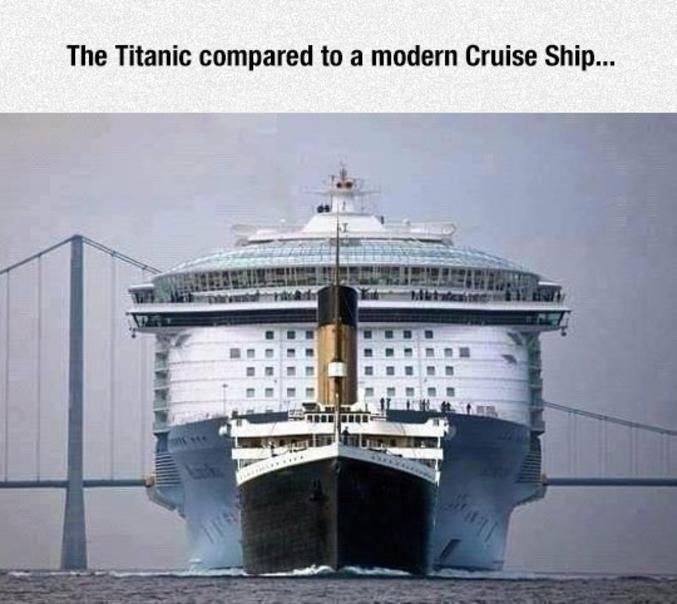 ...mais aujourd'hui, il paraît presque riquiqui comparé aux bateaux de croisières actuels.