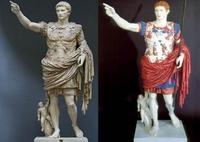 La lumière ultraviolette révèle à quoi ressemblaient les statues de l'Antiquité