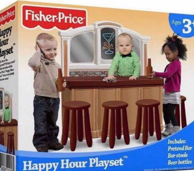"""Il s'agit évidemment d'un fake mais il me choque moins que les kits """"femme de ménage"""" qu'on offre à nos petites filles..."""