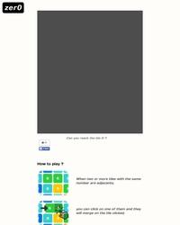 zer0 : Pourrez-vous atteindre le bloc n°0 ?