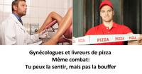 Gynéco vs livreur de pizza