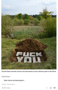 Message pour le futur.