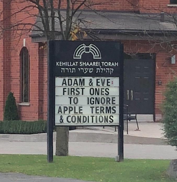Les premiers à ignorer les conditions d'utilisation d'Apple (la pomme).