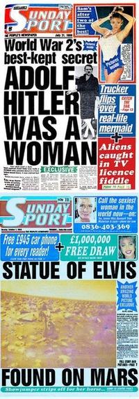 Le Sunday sport est un tabloïd britannique...
