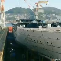 Time lapse dans un chantier naval