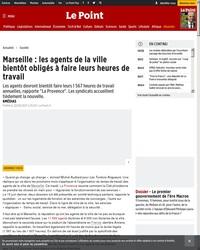 Marseille : les agents de la ville bientôt obligés à faire leurs heures de travail