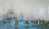 La cavalerie, capture la flotte ennemie.