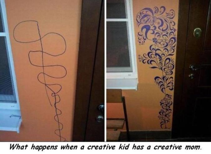 Ce qui arrive quand un enfant créatif a une mère créative.
